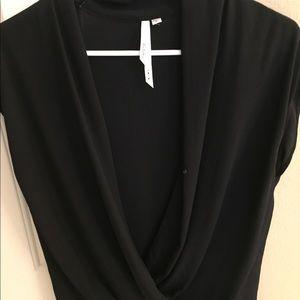 Beautiful black sleeveless Nordstrom wrap blouse!